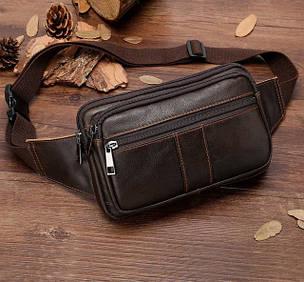 Мужские кожаные сумки поясные, нагрудные.