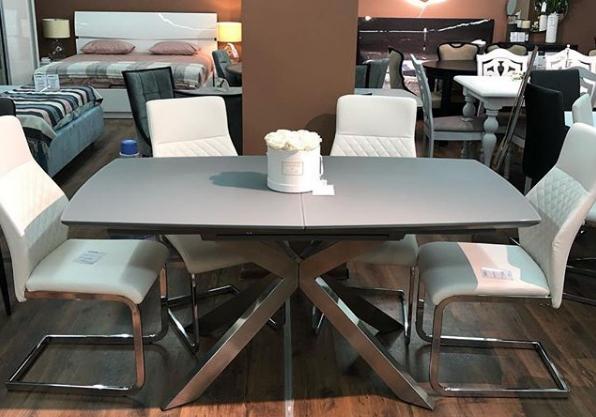 Стол обеденный  Мартин PRESTOL, серый