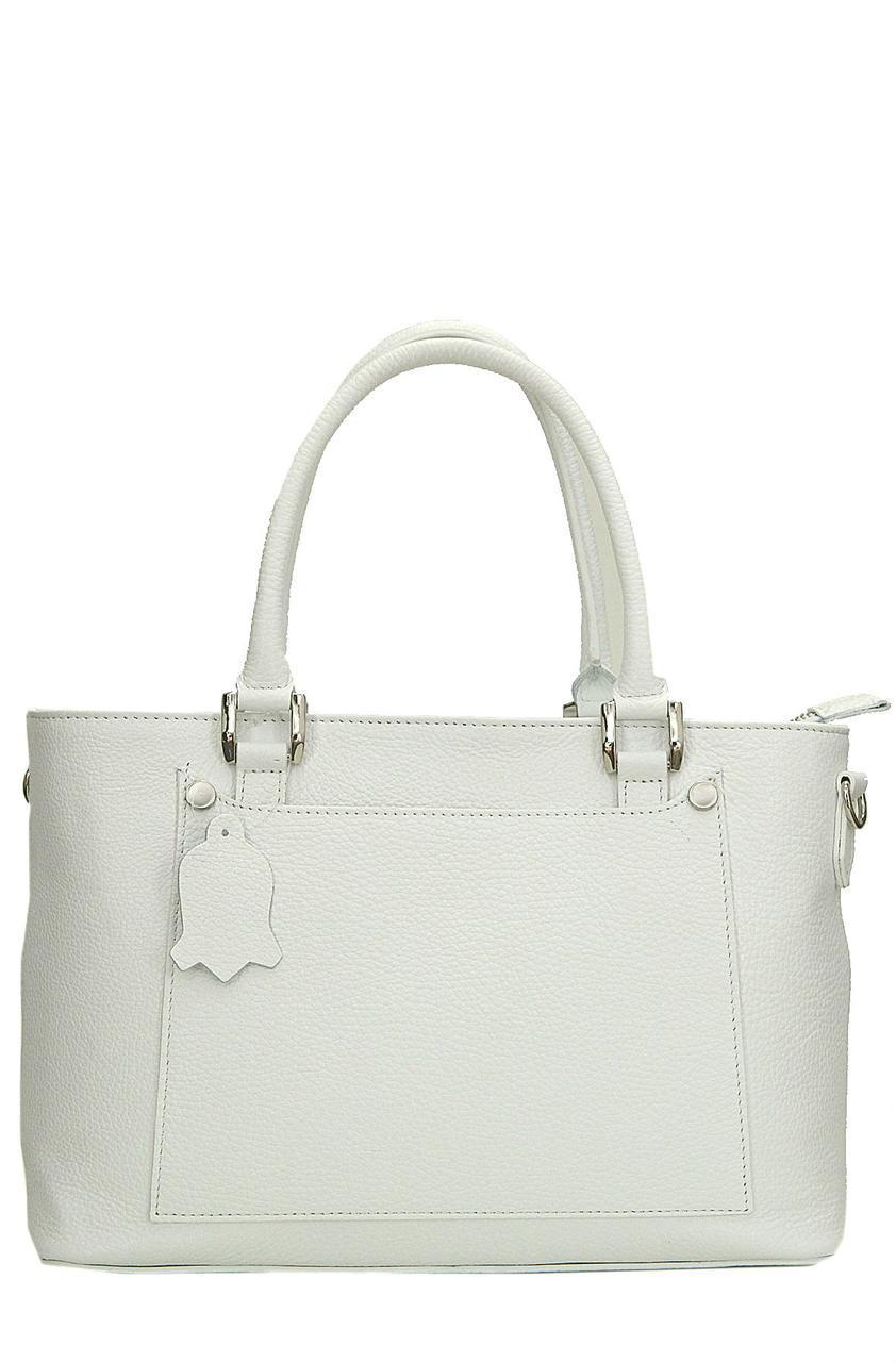 Женская кожаная сумка AMANDA Diva's Bag цвет белый