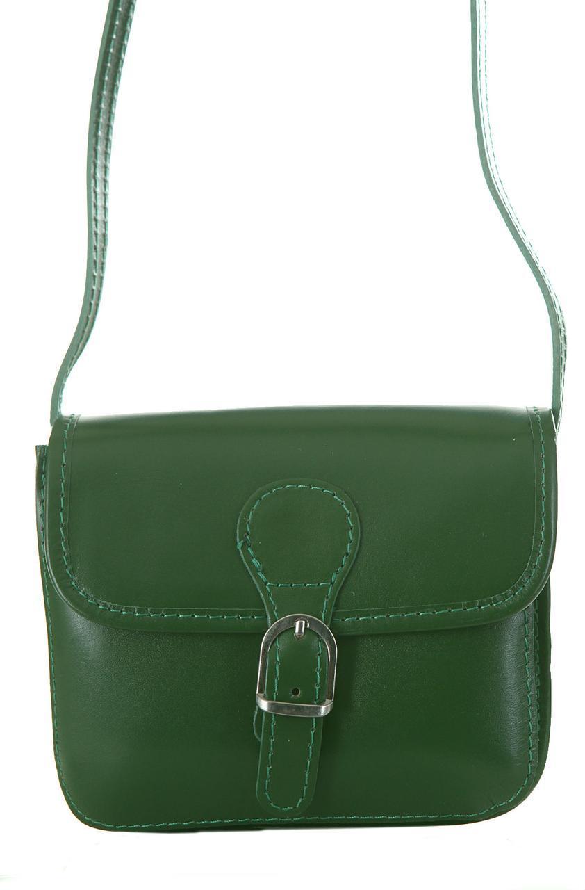 Женская кожаная сумка ALMA Diva's Bag цвет зеленый