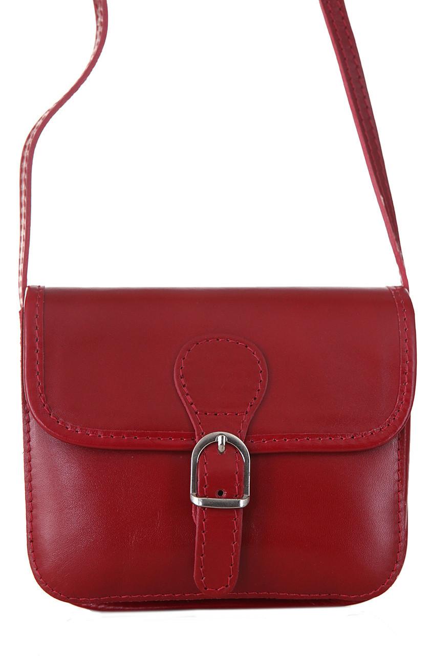 Женская кожаная сумка ALMA Diva's Bag цвет бордовый