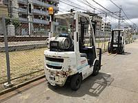 Вилочный погрузчик бу Nissan (Япония) FG15 (P1F1A15D), газовый автопогрузчик бу, грузоподъемность 1,5тонны