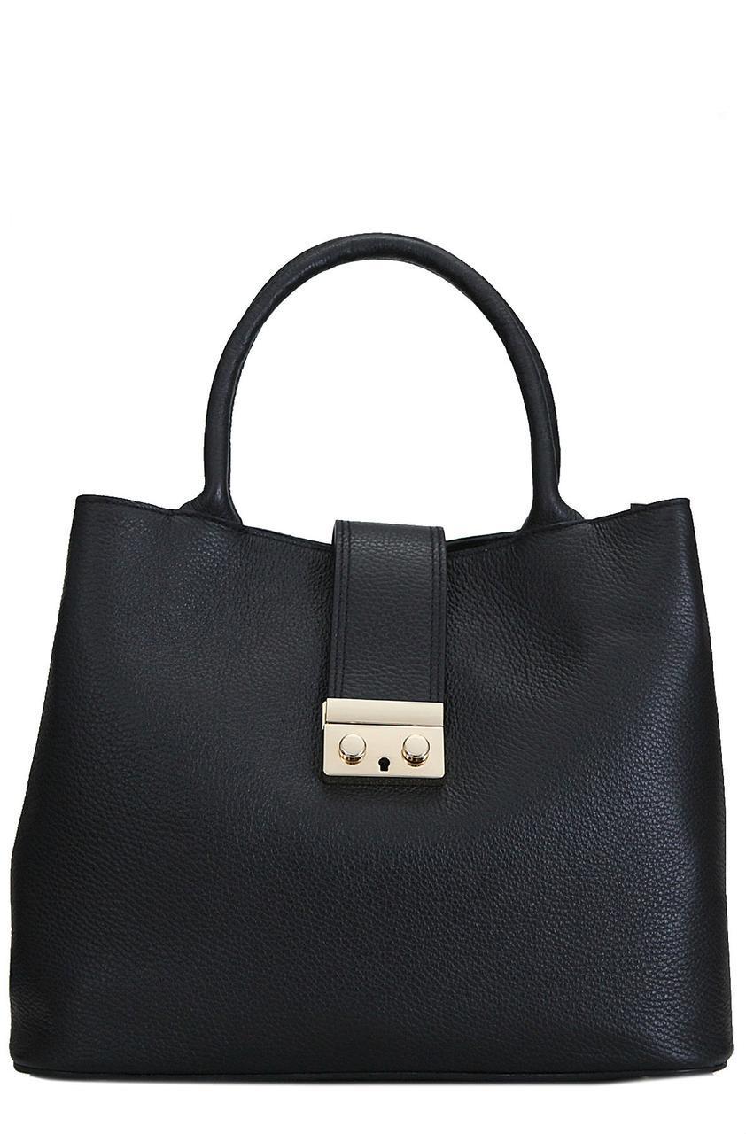 Женская кожаная сумка ALISSA Diva's Bag цвет черный