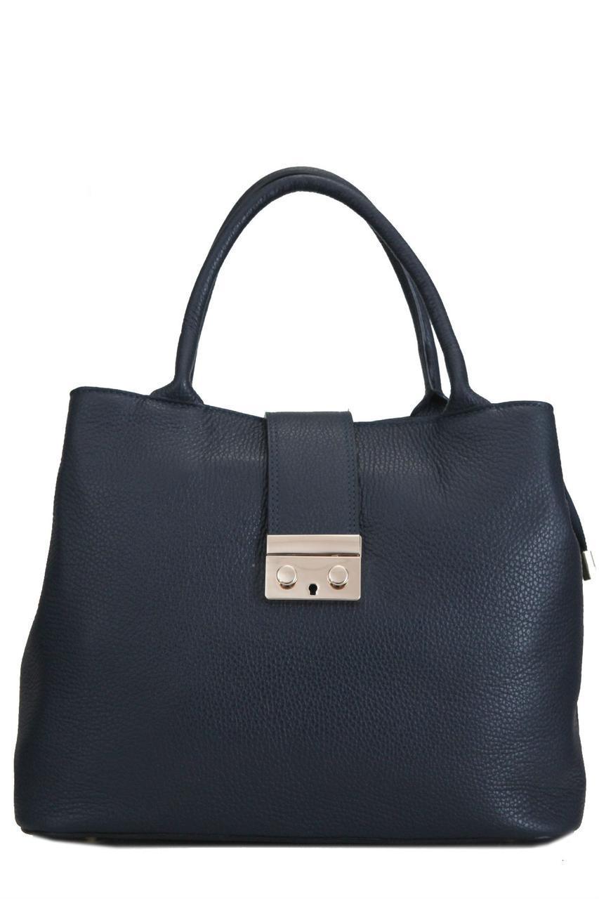 Женская кожаная сумка ALISSA Diva's Bag цвет темно-синий