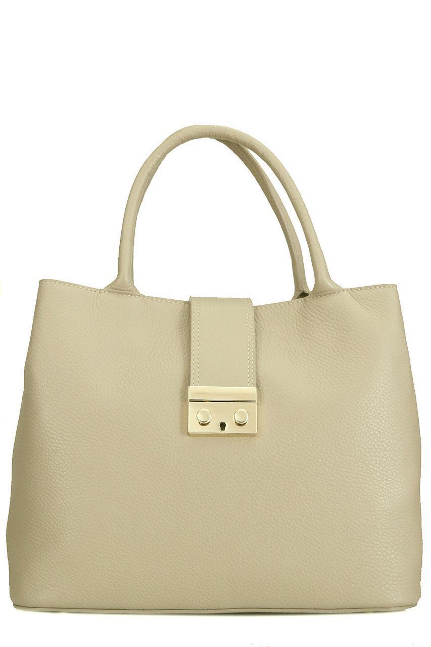 Женская кожаная сумка ALISSA Diva's Bag цвет светло-коричневый