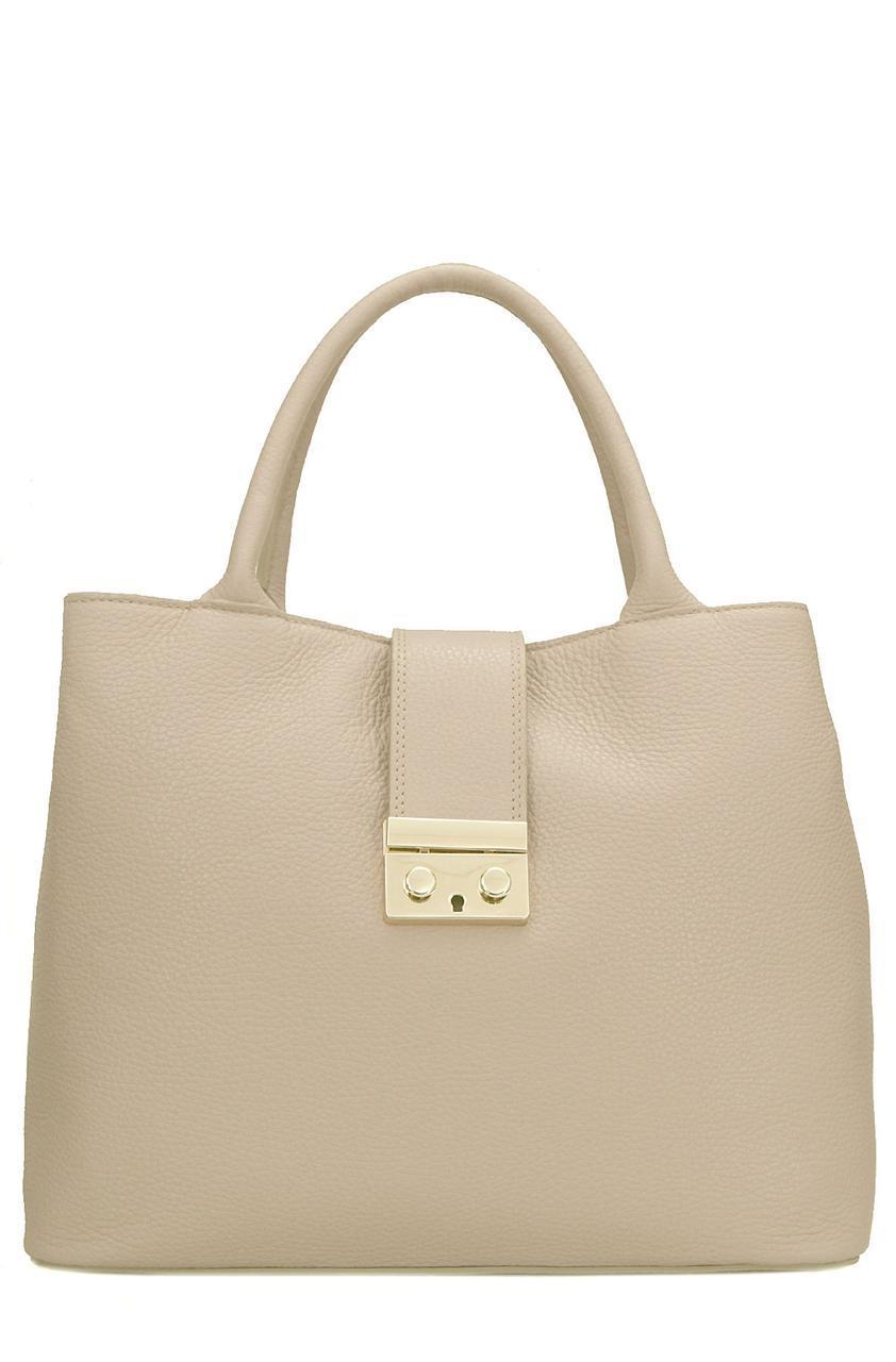 Женская кожаная сумка ALISSA Diva's Bag цвет пудра