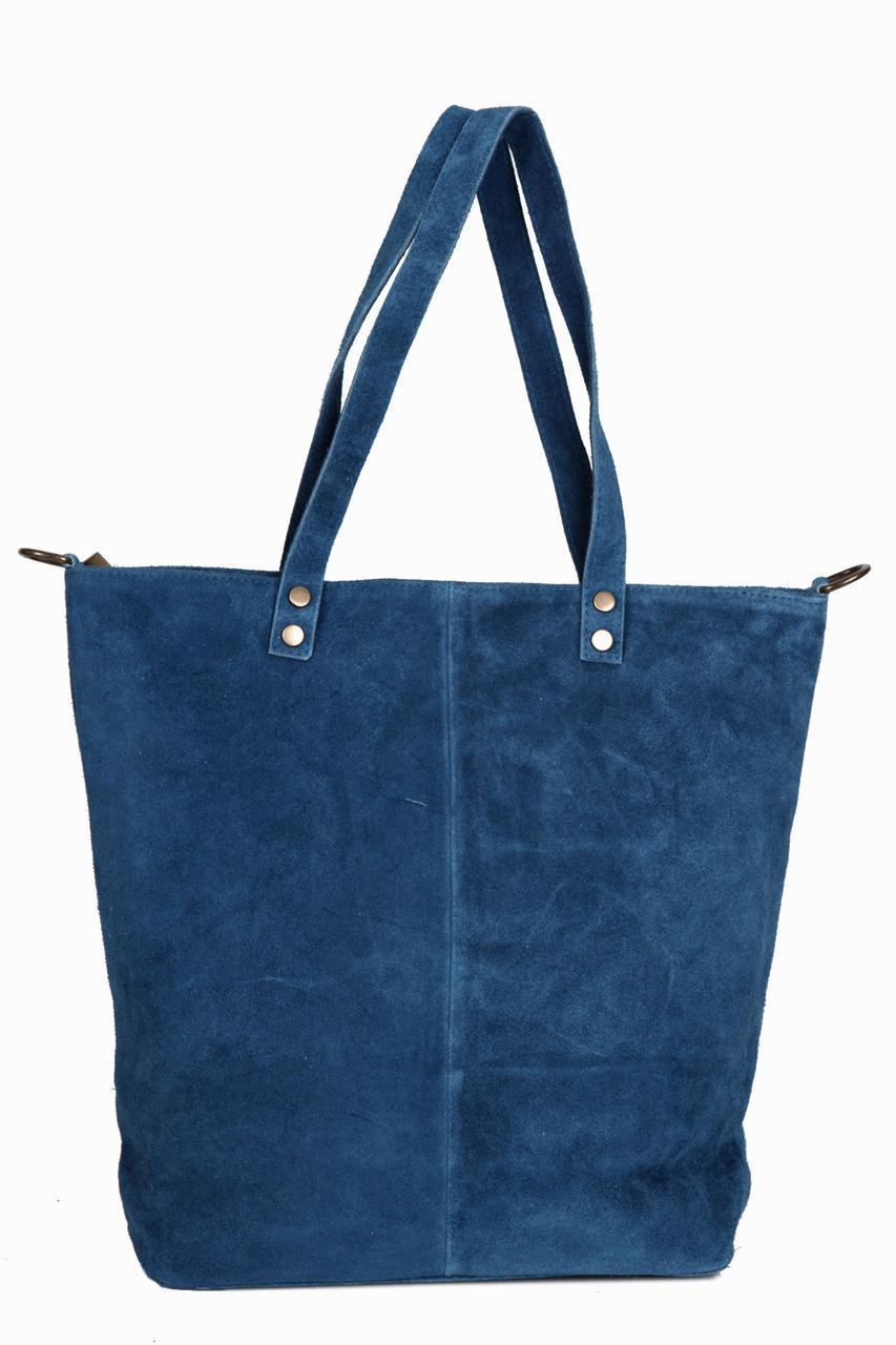 Женская кожаная сумка ALENA Diva's Bag цвет синий