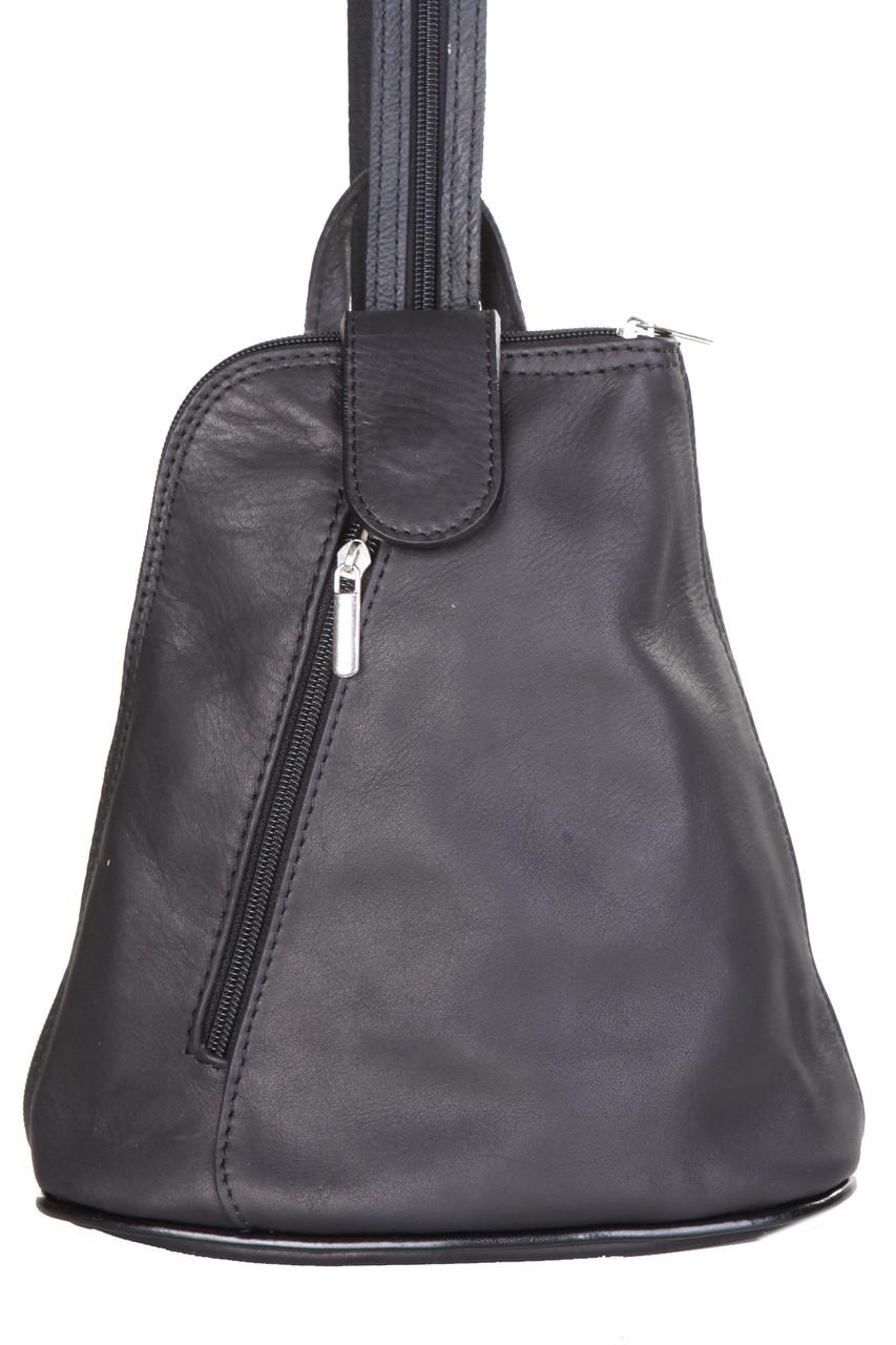 Женская кожаная сумка ALGISA Diva's Bag цвет черный