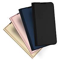 Кожаный чехол-книжка Dux Ducis с карманом для Xiaomi Redmi Note 8 Pro (выбор цвета)