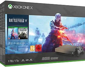 Microsoft Xbox One X 1TB GOLD RUSH SPECIAL EDITION CONSOLE BATTLEFIELD V BUNDLE + FAR CRY NEW DAWN LIMITED EDI