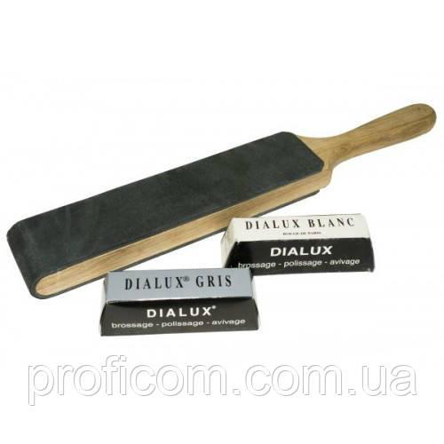 Комплект для правки ножей (досточка, белая и серая паста Dialux)