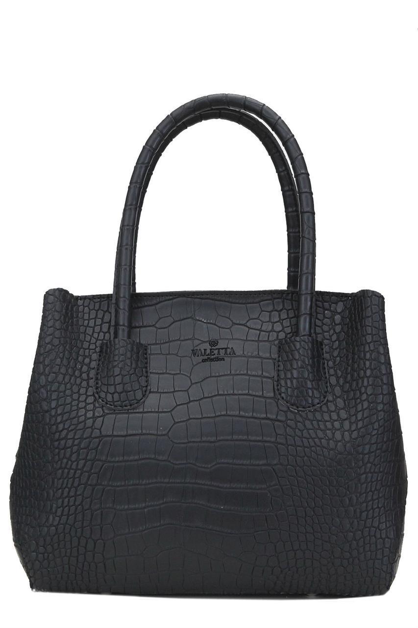 Женская сумка-тоут ШАЛФЕЙ Valetta черная 28 см х 24 см х 15 см