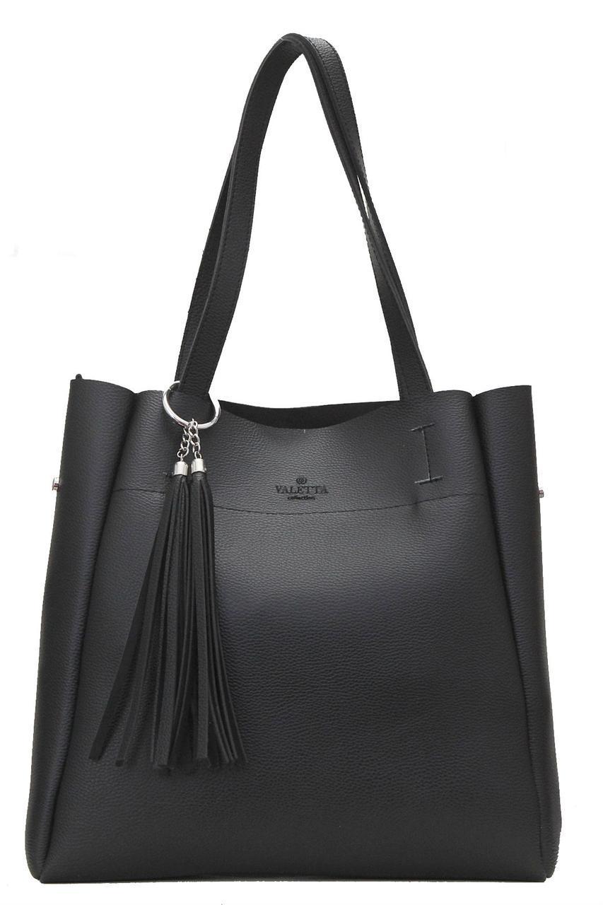 Женская сумка из искуственной кожи ПАСТА Valetta цвет черный