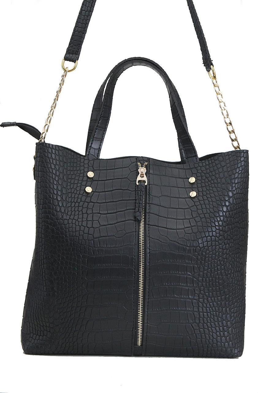 Женская сумка из искуственной кожи КЕМЕР Valetta цвет черный