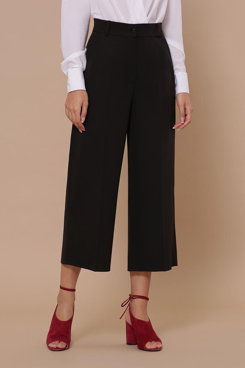 Кюлоты укороченные женские брюки черные Эби