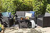 Набір садових меблів Monaco Set With Storage Table Graphite ( графіт ) з штучного ротанга ( Allibert ), фото 6