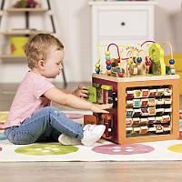 Развивающая деревянная игрушка детский сортер Battat Зоо-куб BX1004X