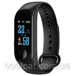 Фитнес браслет Mi Band M3, Смарт часы / Спортивный трекер  + Наушники Apple в Подарок
