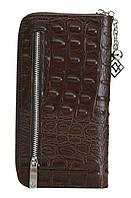 Женский кожаный кошелек 175915 Kristy.X цвет темно-коричневый