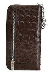 Жіночий шкіряний гаманець 175915 Крісті.X колір темно-коричневий