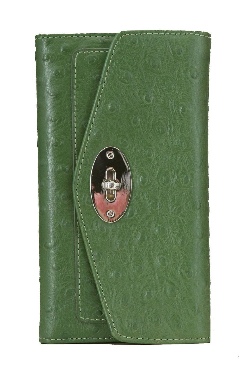 Жіночий шкіряний гаманець 156015 Крісті.X колір зелений