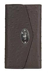 Жіночий шкіряний гаманець 156015 Крісті.X колір темно-коричневий
