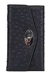Жіночий шкіряний гаманець 156015 Крісті.X колір чорний