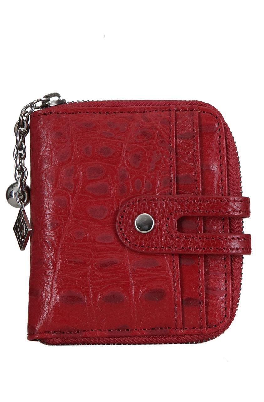 Женский кожаный кошелек 175909 Kristy.X цвет красный