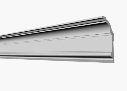 Плинтус потолочный GP-71  155*69 mm для натяжного потолка