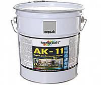 Краска акриловая KOMPOZIT АК-11 для бетонных полов серая 10кг