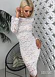 Женское гипюровое платье до колен (в расцветках), фото 3