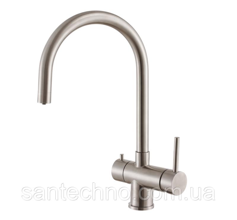 Кухонний комбінований змішувач (3 в 1) під фільтровану воду Fabiano FKM 31.5 S/Steel