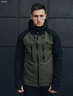 Куртка Staff softshell black and haki