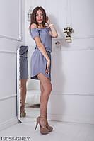 Повітряне літнє плаття зі спущеними плечима і гумкою по талії Amareta