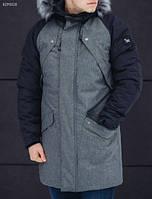 Зимняя парка Staff Flash gray and navy