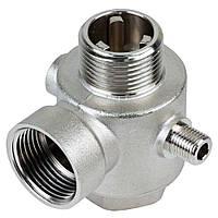 """З'єднувач 5-виводний + зворотний клапан 80мм 1""""Мх1""""Fx1""""Fx¼""""Mx¼""""F Silver 480г AQUATICA (779601)"""