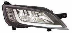 Фара передняя Peugeot Boxer 2014- правая H7/H7+ук.поворот,+моторчик, чёрн.отражат., авт. 552-1145RMLDEM2