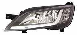 Фара передняя Peugeot Boxer 2014- левая H7/H7+ук.поворот,+моторчик, чёрн.отражат., авт. 552-1145LMLDEM2