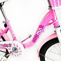 """Велосипед детский RoyalBaby Chipmunk MM Girls 16"""", OFFICIAL UA, розовый, фото 3"""