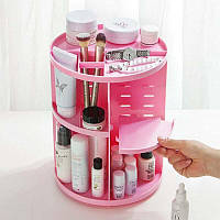 Компактный органайзер для косметики Розовый 360 град. ROTATION / Косметик бокс крутится вокруг своей оси