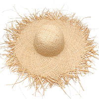 Соломенная плетенная пляжная шляпа с широкими полями