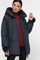 Куртка женская зимняя с асимметричным низом 862