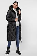 Пуховик женский зимний удлиненный с капюшоном 9120