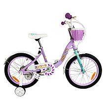 """Велосипед детский RoyalBaby Chipmunk MM Girls 16"""", OFFICIAL UA, фиолетовый, фото 2"""