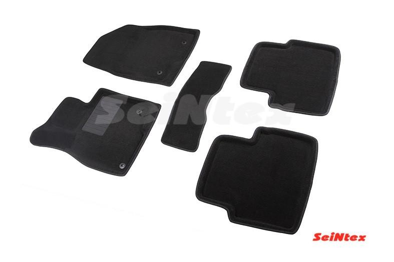 Коврики в салон 3D для Mazda 3 2013- /Черные 5шт 86350