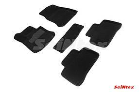 Коврики в салон 3D для Mercedes-Benz GLC-Class X253 2015- /Черные 5шт 90255