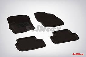 Коврики в салон 3D для Mitsubishi Lancer X 2007- /Черные 5шт 82162