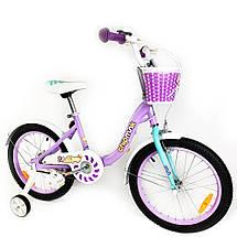 """Велосипед детский RoyalBaby Chipmunk MM Girls 16"""", OFFICIAL UA, фиолетовый, фото 3"""
