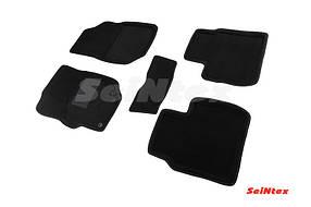 Коврики в салон 3D для Peugeot 301/Citroen C-Elysse 2013- /Черные 5шт 84974