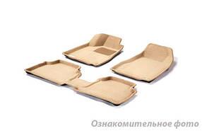 Коврики в салон 3D для Toyota Camry (V40) 2006-2011 /Бежевые 5шт 84111